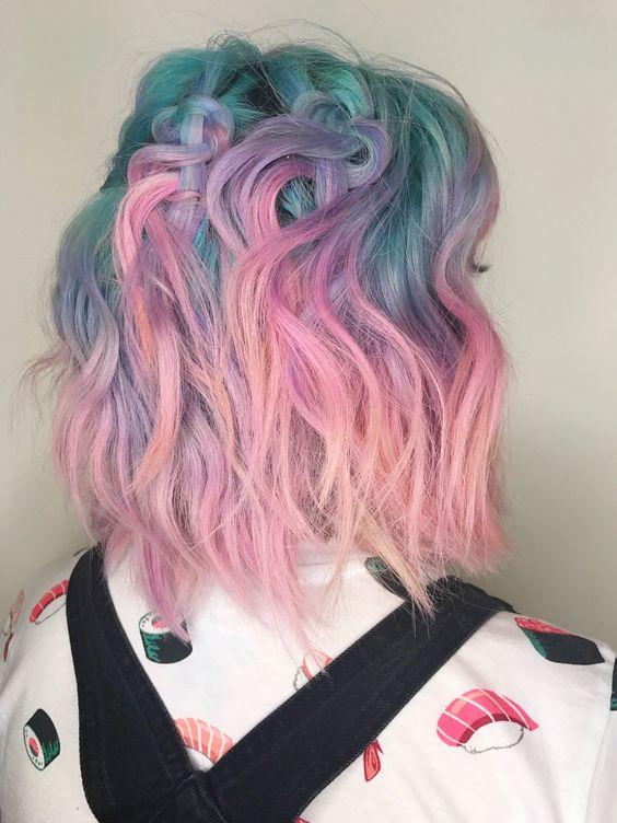 Colores fantasia para pelo corto