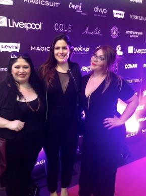 Con la modelo Ana Carbajal y Aydee Treinta